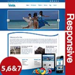 Vesta Blue Skin Flexible Responsive Skin *4 Modules* Mobile Skin Tablet Skin