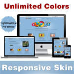 Custom Skin // LightSteelBlue //Responsive Skin //Unlimited Colors //Mobile & Tablet // DNN5 & 6 & 7