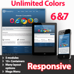 Most Customizable Responsive Skin - Proserpina 140 Blue - 5 Free Modules - Flexible Mobile Tablet
