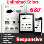 Unlimited Colors, Images, Layouts - Rotondo White Preset - 5 Free Modules - Responsive Skin Mobile