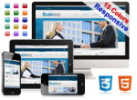 (DNN5/6/7) 15 Colors Business Mobile DNN Skin Pack 004-V3 HTML5/CSS3/Responsive/Gallery/Social/Blog