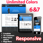 Unlimited Colors, Images, Layouts - Athena Blue Preset - 5 Free Modules - Responsive Skin Mobile
