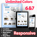 Unlimited Colors, Images, Layouts - Rotondo Blue Preset - 5 Free Modules - Responsive Skin Mobile