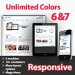Maximum Blue - Unlimited Colors, Images, Layouts - 5 Free Modules - Responsive Skin Mobile