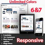 Maximum Dark Blue - Unlimited Colors, Images, Layouts - 5 Free Modules - Responsive Skin Mobile