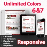 Maximum Sunglow Red - Unlimited Colors, Images, Layouts - 5 Free Modules - Responsive Skin Mobile