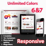 Maximum 143 Maroon - Unlimited Colors, Images, Layouts - 5 Free Modules - Responsive Skin Mobile