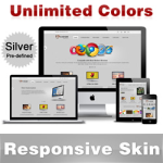 Custom Skin // Silver // Responsive Skin // Unlimited Colors // Tablet & Mobile // DNN5 & 6 & 7