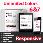 Maximum 143 Violet - Unlimited Colors, Images, Layouts - 5 Free Modules - Responsive Skin Mobile