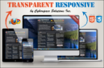 Transparent Responsive - Black Color