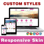 CleanWeb Skin // VioletRed // Responsive // Unlimited Colors // Typography // Mobile // DNN 5/6/7