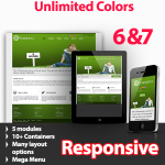 Proserpina Green - Unlimited Colors, Images, Layouts - 5 Free Modules - Responsive Skin Mobile