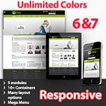 Athena Lawn Green - Unlimited Colors, Images, Layouts - 5 Free Modules - Responsive Skin Mobile
