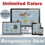 Custom Skin // SlateGray // Responsive Skin // Unlimited Colors // Tablet & Mobile // DNN 5 & 6 & 7