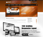 Software Brown Mobile and Desktop Responsive Skin & MGS Module & Typography  Portal Templates