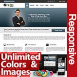 Persephone Dark Blue - Unlimited Colors, Images, Layouts - 5 Free Modules - Responsive Skin Mobile