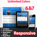 Proserpina Sky Blue - Unlimited Colors, Images, Layouts - 5 Free Modules - Responsive Skin Mobile