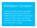 Win8 Metro Style Container Pack