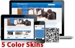 Clean 5Colors Multi-Purpose Skins 12408 with slider banner.compatible with DNN4.5.6.7