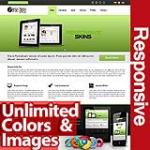 Persephone Olive Green - Unlimited Colors, Images, Layouts - 5 Free Modules - Responsive Skin Mobile