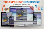 Transparent Responsive - Blue Color