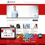 Red/Clean/Global/business Skin.10328 with slide banner_compatible with mobile/PC ,DNN4.5.6.7