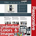 Pulse Dark Blue - Unlimited Colors, Images, Layouts - 5 Free Modules - Responsive Skin Mobile