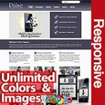 Pulse Blue Grey - Unlimited Colors, Images, Layouts - 5 Free Modules - Responsive Skin Mobile