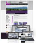 Award Purple // 960 Grid // Mobile and Desktop Responsive //Portal Templates // Social 
