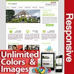 Maximum Olive Green - Unlimited Colors, Images, Layouts - 5 Free Modules - Responsive Skin Mobile