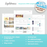 Lightness Premium DNN Skin // Responsive Design // Blog // Gallery // Exported Pages