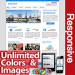 Maximum Sky Blue - Unlimited Colors, Images, Layouts - 5 Free Modules - Responsive Skin Mobile
