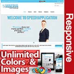 Minerva Sky Blue - Unlimited Colors, Images, Layouts - 5 Responsive Modules - Responsive Skin Mobile