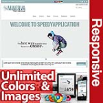 Minerva Cadet Blue - Unlimited Colors, Images, Layouts - 5 Free Modules - Responsive Skin Mobile