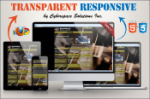 Transparent Responsive - Gold Color