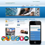 Responsive Blue /Mobile/PC Skin 10335 with slide banner_2Skin Options/Home/inner_Free 4modules