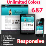 Athena Aqua - Unlimited Colors, Images, Layouts - 5 Free Responsive Modules - Responsive Skin