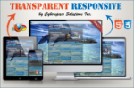 Transparent Responsive - Light Blue Color