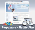 Mobile/Responsive Skin 60067.06_Cyan_Any Business_3 Free Modules_Clean Style_DNN5/6/7.x