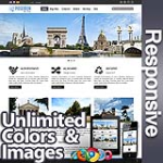 Poseidon Blue Grey - Responsive Skin - Bootstrap - Corporate / Business / Mobile Tablet Skin