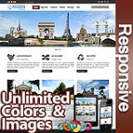 Poseidon Burnt Maroon - Responsive Skin - Bootstrap - Corporate / Business / Mobile Tablet Skin