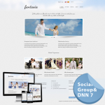 Fancy Wedding Vacation*Mobile/Responsive Skin 60072_Light Blue**4 Free Modules*DNN6/7.x