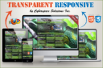 Transparent Responsive - Lime Color