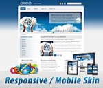 Mobile/Responsive Skin 60067.06*Dark Blue 6 Colors Value Pack_Any Busines_3 Free Modules_DNN5/6/7.x