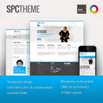 SPC Premium Skin // DNN or Sharepoint // Unlimited Colors // Responsive