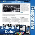Ares Cool Blue - Responsive Skin - Bootstrap - Corporate / Business / Mobile Tablet Skin