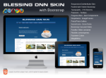 Blessing DNN Skin Pack Responsive Layout with Bootstrap for DNN6 and DNN7 Parallex Slider