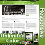 Ares Olive Green - Responsive Skin - Bootstrap - Corporate / Business / Mobile Tablet Skin