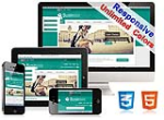 (DNN5/6/7) Unlimited Colors Business Responsive DNN Skin Pack 014 with CustomPanel/Gallery/Blog