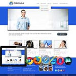 Blue Responsive Global business Skin.10328 with slide banner_compatible with DNN4.5.6.7
